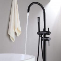 Floor-standing black faucet